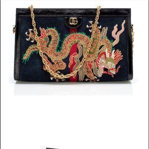 Gucci ophidia embroiled medium shoulder bag